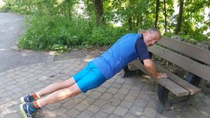 push-up sur un banc
