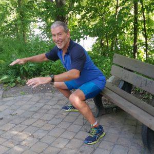 squat sur banc